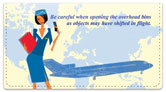 Flight Attendant Checkbook Cover