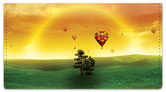 Hot Air Balloon View Checkbook Cover