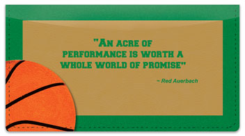 Red Auerbach Checkbook Cover