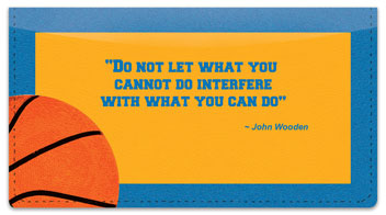 John Wooden Checkbook Cover