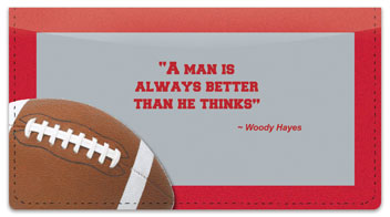 Woody Hayes Checkbook Cover