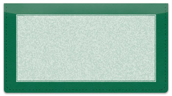 Green Sponge Pattern Checkbook Cover