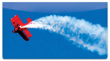 Aerobatic Air Show Checkbook Cover