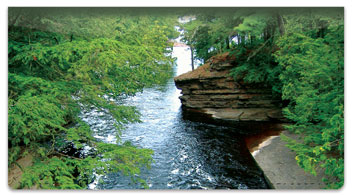 Peaceful River Checkbook Cover