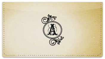 A Monogram Checkbook Cover