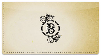 B Monogram Checkbook Cover