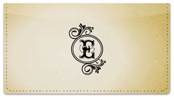 E Monogram Checkbook Cover