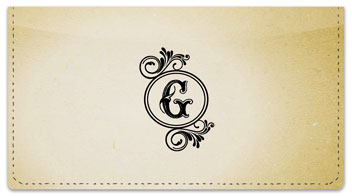 G Monogram Checkbook Cover