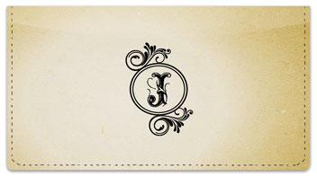 J Monogram Checkbook Cover