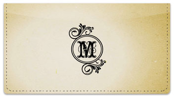 M Monogram Checkbook Cover