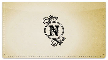 N Monogram Checkbook Cover