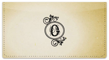 O Monogram Checkbook Cover