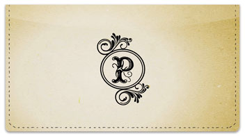 P Monogram Checkbook Cover