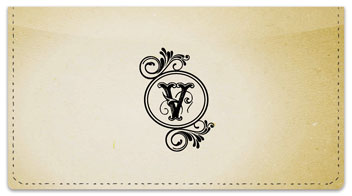V Monogram Checkbook Cover