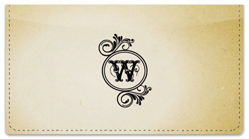W Monogram Checkbook Cover