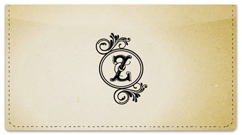 Z Monogram Checkbook Cover