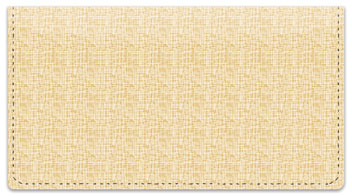 Gold Linen Checkbook Cover