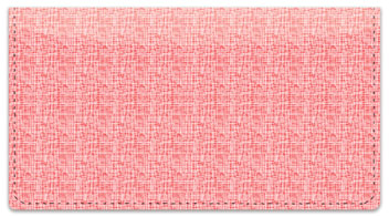 Pink Linen Checkbook Cover