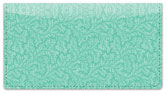 Green Leaves Checkbook Cover