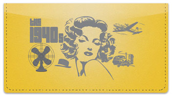 The 1940's Checkbook Cover