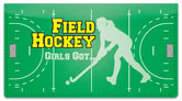 Field Hockey Checkbook Cover