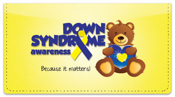 Down Syndrome Awareness Checkbook Cover