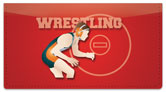 Wrestling Checkbook Cover