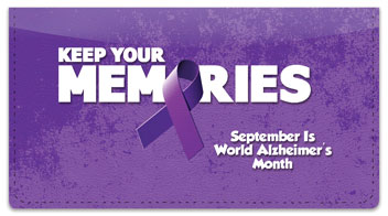 Alzheimer's Awareness Checkbook Cover