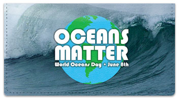 World Oceans Day Checkbook Cover