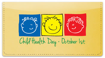 Child Health Day Checkbook Cover