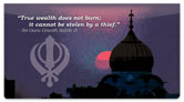 Sikhism Checkbook Cover