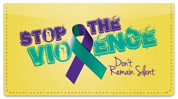 Domestic Violence Awareness Checkbook Cover