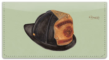 Fire Helmet Checkbook Cover