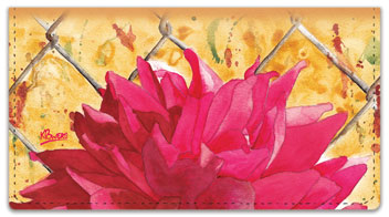 Floral Series 4 Checkbook Cover