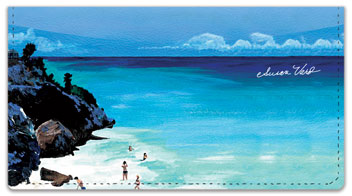 Beach Scene Checkbook Cover