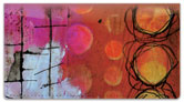 Encaustic Checkbook Cover