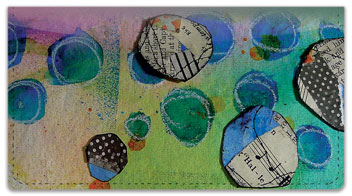 Paper Circle Checkbook Cover