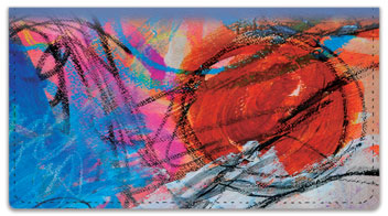 Dina Wakley Scribble Checkbook Cover