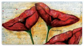 Poppies Checkbook Cover