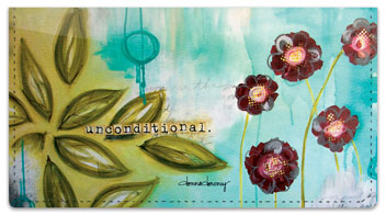 Floral Set 1 Checkbook Cover