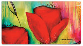 Canvas Painting Checkbook Cover