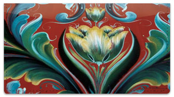 Rosemaling 1 Checkbook Cover