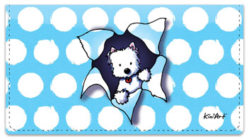 Westie Series Checkbook Cover