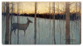 Deer and Forest Checkbook Cover