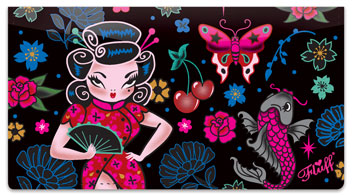 Geisha Girl Checkbook Cover