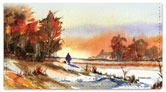 Fall Landscape Checkbook Cover