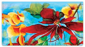 Debbie Lewis Flower Set Checkbook Cover