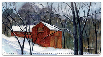 Snow Landscape Checkbook Cover