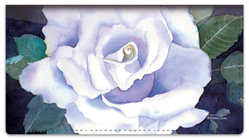 Rose Set Checkbook Cover