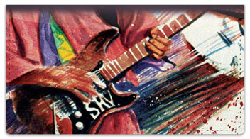 Guitar Art 2 Checkbook Cover